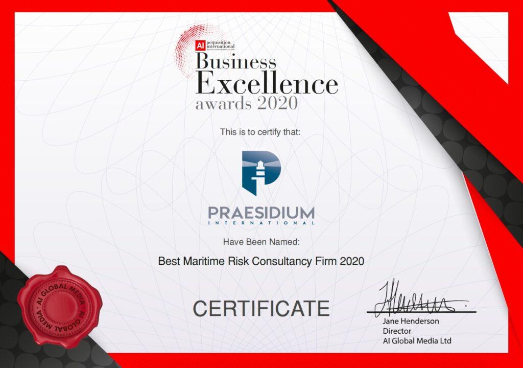 Praesidium International - Business Excellence Awards 2020 Winner 1